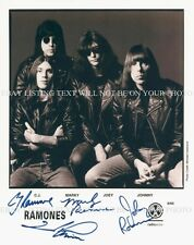 THE RAMONES SIGNED AUTOGRAPHED 8x10 RP PHOTO CJ MARKY JOHNNY JOEY RAMONE