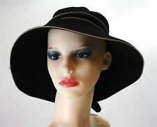 Pia Rossini Puerto Cotton Sun Hat Bow Trim Ladies Classic Summer Black/Stone