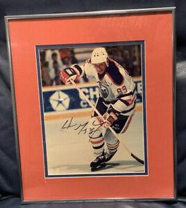 Gorgeous Wayne Gretzky Edmonton Oilers Signed 8x10 Color Photo Framed PSA DNA
