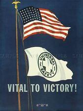 Propaganda De Guerra Usa vital bandera de la Victoria Estrellas Rayas mástil arte cartel impresión lv7285