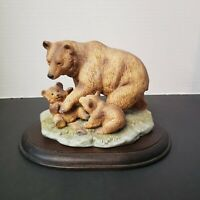 Vintage Homco #1435 Ceramic Brown Bear Family
