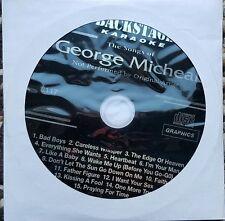 GEORGE MICHAEL 1980'S KARAOKE CDG DISC CD KARAOKE - CARELESS WHISPER,FAITH