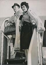 Elisabeth Taylor à Paris 1952 - Photo de Presse