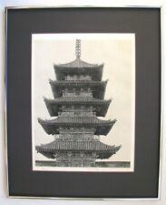 "Ryohei Tanaka - ""Pagoda (TOJI)"" - Beautiful Early 1966 Etching!"