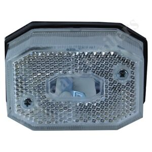 WHITE CLEAR FRONT SIDE MARKER LIGHT LAMP FOR IFOR WILLIAMS