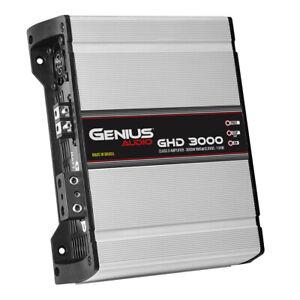 Genius GHD-3000 3000 Watts-RMS Compact Car Amplifier Monoblock Class-D 1-Ohm Sta