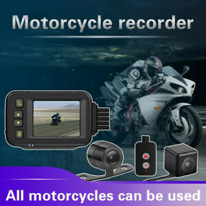 Motorcycle Camera DVR Waterproof Driving Video Recorder Front Rear Dual Lense