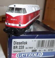 Gützold 35702 H0 Diesellok BR 228 287-9 DB AG Epoche 5/6, DSS+ LED-Licht Rarität