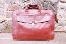THE BRIDGE Briefcase Satchel Laptop Notebook Case Portfolio Bag Brown Leather