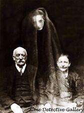 Elderly Couple with a Creepy Ghost Head - Historic Photo Print