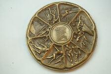 VINTAGE BRONZE MEDAL 1980 WINTER OLYMPICS GAMES LAKE PLACID MEDALLIC ART BY MACO