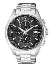 Citizen Eco Drive orologio radio at8130-56e Uomo Titanio Orologio Cronografo Chrono Nuovo