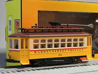 MTH RAIL KING MARKET STREET BUMP N GO TROLLEY O 619 GAUGE street car 30-5141 NEW
