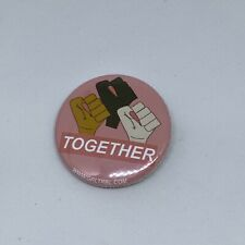 Grl Trbl Solidarty Pin Bage Button Fists Up Feminist Riot Grrl Punk 1.25""