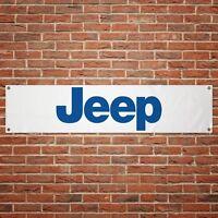 Jeep Banner Garage Workshop PVC Sign Trackside Motorsport Car Display