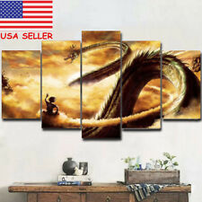 Dragon Ball  Art Picture Print Goku & Shenlong 5 Piece Canvas Wall Home Decor US