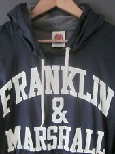 FRANKLIN & MARSHALL WINDCHEATER (M) BLUE HOODED LINED FLEECE HOODIE - Excellent