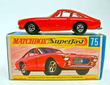 MATCHBOX SF Nº 75 a Ferrari Berlinetta rouge argentée Grill Top Dans Box