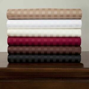 800 TC Egyptian Cotton 5-Piece Split Sheet Sets All Striped Colors & Sizes