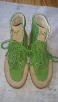 Top Wolky Damen Stiefel Boots Schuhe Echtleder Natur -Grün Gr.39 UK 6