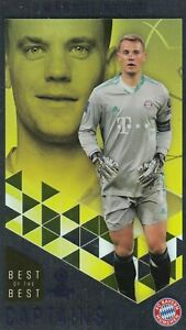 TOPPS BEST OF THE BEST CHAMPIONS LEAGUE 2020-2021 CARD N. 167 NEUER (CAPTAINS)