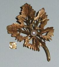 Tolle Brosche aus 585er Gelbgold mit Perle  (da4190)