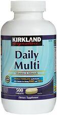 NEW!! Kirkland Signature Daily Multi Vitamins & Minerals x 500 Tablets