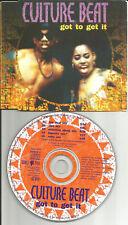 CULTURE BEAT Got To Get it 5TRX w/ RARE MIXES & RADIO TRK CD single USA Seller