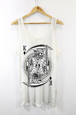 Skull King Printed Vest Tank Top Urban Hipster Fashion Design Mens Girls New