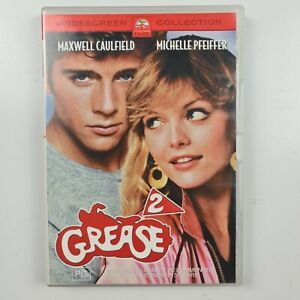 Grease 2 DVD - Maxwell Caulfield, Michelle Pfeiffer - R4 - FREE TRACKED POSTAGE