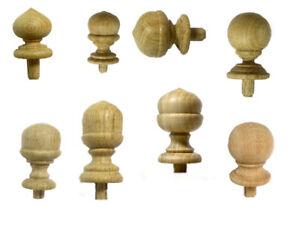 Wood Furniture, Finials Unfinished Post, Clock, Cap, Craft, Newel small