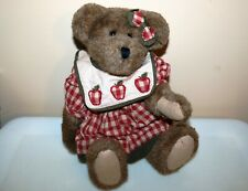 Boyds Bears Cora B Applesmith #912634 ~ 16 Inch ~ Apples ~ Best Dressed