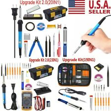Electric Soldering Iron Gun Tool Kit 60W Welding Desoldering Pump Tool Set 110V