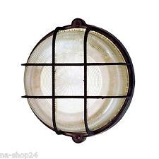 Rundleuchte EEK A++ IP44 SCHWARZ Wandleuchte Deckenleuchte Kellerlampe Lampe