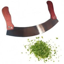 "Curved Mezzaluna 10"" Knife Vegetable & Herbs Chopping Blade"