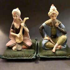 Two Vintage Rare Ardalt Sultan Figurines On pin Cushion