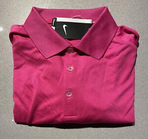 Mens Small Nike Golf Polo Shirt Pink Short Sleeve Tour Performance 509167-616