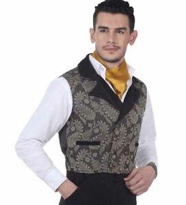 Steampunk Brocade Hidalgo Vest - VIctorian - Regency - Wild West - Cowboy