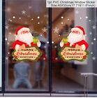 1 Pc Merry Christmas Pvc Window Sticker  Santa Claus Winter Home Decoration
