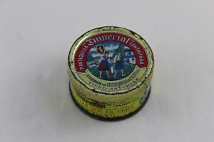 Vintage Box Of Lithographed Tinplate Butter Imperial Asturias - 7,8cm Ø