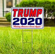 Donald Trump For President 2020 Campaign SM Outdoors Yard Sign 2 sided w/stake