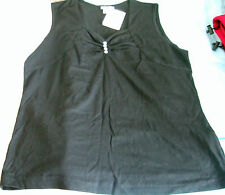 Ladies Black Diamonte top Size 12