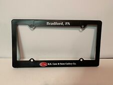 W.R. Case & Sons Cutlery, Case XX, License Plate Frame, Circa 1984, Great Condit