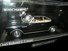 1:43 Minichamps Opel record C Coupe 1966 BLACK/NOIR Nº 430046180 OVP