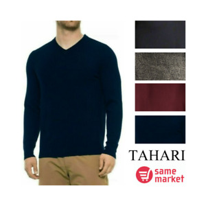 NEW!!! Tahari Men's Extra Fine Merino Wool Blend Sweater Size & Color VARIETY!!!