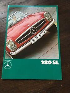Prospekt Auto / Oldtimer Mercedes-Benz 280 SL - Pagode - W113