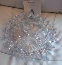 Crystal Glass 24% Lead Crystal 3 Candle Holder By Partylite NEW BOXED GIFT