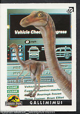 (ZZ) Topps 1993 Jurassic Park Trading Card - No 4 - Gallimimus