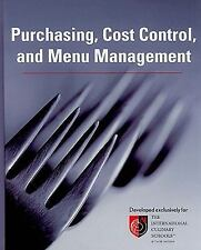 Purchasing, Cost Control, and Menu Management