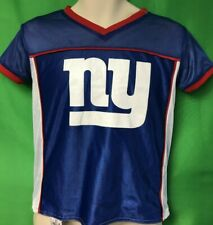 T226 NFL New York Giants Authentic Kids' Flag Football Shirt Youth Medium 10-12